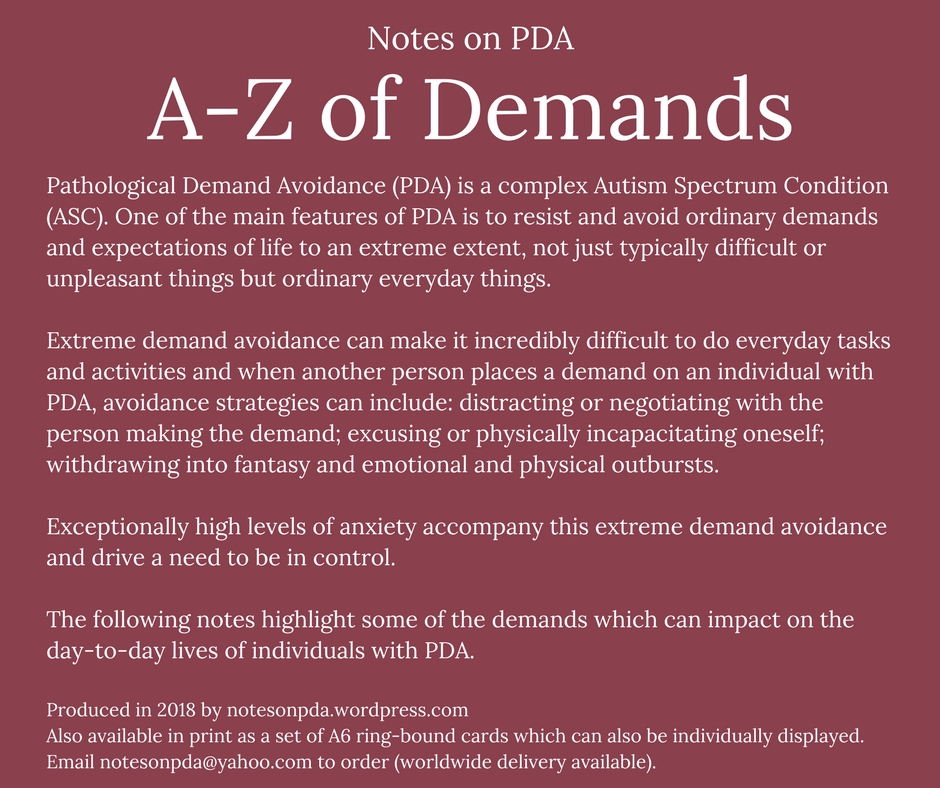 A-Z of Demands - cover for PDF